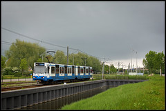 20130529 GVB 68 in Amstelveen (Koen Brouwer) Tags: station train subway gare metro tram zug bahnhof ubahn mei trein amstelveen gvb eindpunt westwijk 2013