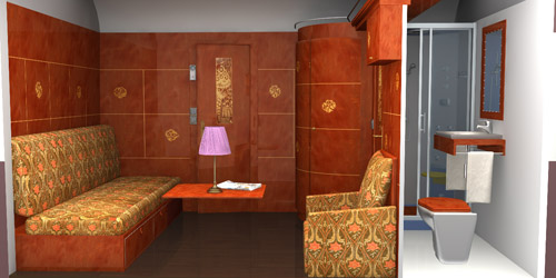 Al Andalus Luxury Train in Spain - Plan of Standard Suite by day
