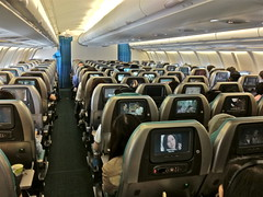 Cathay Pacific A330-300 Y Class SIN/HKG (Luxemburgerlis) Tags: cx seats cathaypacific