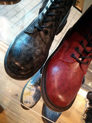 Snakeskin Docs, Doc Martens Store, Carnaby Street, London, UK (gruntzooki) Tags: uk london fashion boots docs