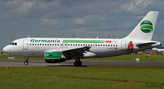 Germania A319-100 (birrlad) Tags: ireland dublin sunlight up airplane airport haze taxi aircraft aviation airplanes line landing heat approach takeoff runway airliner