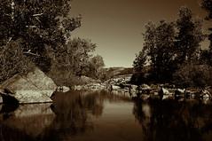 IMGP1858s (maberto) Tags: california blackandwhite reflection sepia river pentax tahoe toned southyubariver topazlabs ciscogrove bradmaberto