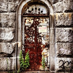 Old Door in the Aqueduct - Croton Gorge Park - Upstate NY (Photo by Ragnarok NYC) (RagnarokNYC) Tags: park door old nyc newyorkcity summer ny newyork brooklyn river square design marketing waterfall video newjersey amazing cool bronx web awesome nj upstate best aqueduct queens squareformat ragnarok astoria production lic gorge croton statenisland spencer hefe barrett longislandcity consulting westchester crotongorgepark stevenaldrich mostexciting iphoneography spencerbarrett instagramapp uploaded:by=instagram spenceralexanderbarrett foursquare:venue=4b4532def964a520ba0726e3