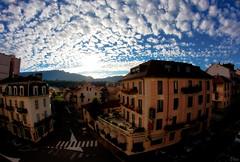 Aix-les-bains City (Pito Charles) Tags: city sunset sky cloud fish france eye clouds landscape soleil landscapes coucher coton fisheye ciel cotton savoie nuage nuages paysage ville aix bains couché aixlesbains