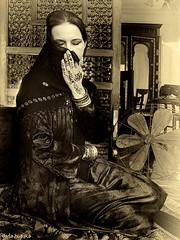 Week 31 of 52 Week Art of Self Portraiture (Sierragoddess) Tags: woman selfportrait self vintage fan egypt cairo arab nights arabian henna arabesque selfie mashrabya 52selfies darlahueske 52selfs 52project2013 focusonthespirit