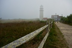 @ Highland (Cape Cod) Light (Timothy Valentine) Tags: lighthouse fog fence capecod large friday nationalseashore 0813 truroma