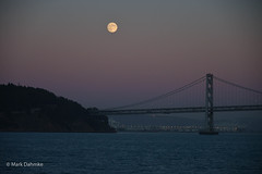 Moon and Bay Bridge