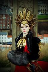 Gothic Queen (saxman1597) Tags: portrait woman girl beauty lady female costume lomo gothic goth queen whitby crown vignette hdr wgw nikond200 nikon24120 photomatrix photoshopelements9