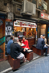 melbourne-6849-ps-w (pw-pix) Tags: morning people food breakfast restaurant cafe sitting eating drinking australia melbourne victoria cbd laneway talking enjoying eatery centreplace