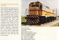 RAI Technical data of an Iranian diesellocomotive. (Franky De Witte - Ferroequinologist) Tags: de eisenbahn railway estrada chemin fer spoorwegen ferrocarril ferro ferrovia