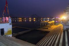 Pushkar Fair (Ashmalikphotography) Tags: stairs canon lights bluehour pushkar brahma ghats brahmatemple pushkarmela