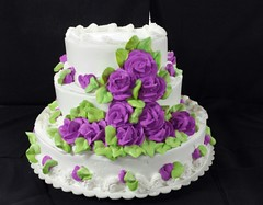 "Purple Flower Cake • <a style=""font-size:0.8em;"" href=""https://www.flickr.com/photos/126232564@N06/15642102529/"" target=""_blank"">View on Flickr</a>"
