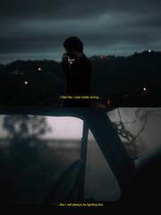 P. 13 (Alyssa Zo Amaro) Tags: old blue man broken window car silhouette collage night movie lights screenshot still diptych mood nightlights cloudy alyssa bokeh atmosphere abandon collab frame z cracks emotional heavy scence amaro