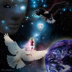 born into this universe (AlicePopkorn) Tags: stars born peace power heart eagle earth dove space