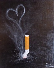 The Final One for Love (James Andrews1) Tags: smoking quitsmoking cigarettesmoke thefinalone smokeheart heartpainting jamesandrews thelastone givingupsmoking smokepainting finalcigarette cigarettelove acryilicpainting usedcigarette jamesandrewsartist thefinaloneforlove cigarettesmokeheart cigarettepainting