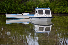BARELY A RIPPLE (Darkroom Daze) Tags: sea reflection water pembroke bay boat ripple mooring bermuda spanishpoint offtherails stovellbay stovelbay parishofpembroke