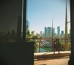 View of Kuwait city from Souq sharq mall (َQ8_Hobby) Tags: city windows light sky sun tower window beautiful mall afternoon shine view state towers kuwait souq shinning moring sharq
