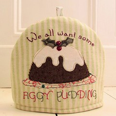 Figgy Pudding Tea Cosy (Bustle & Sew) Tags: xmas pattern embroidery