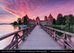 Lithuania - Trakai Island Castle - Trak salos pilis - Medieval Gothic castle on an island in Lake Galv - One of the country's major tourist attractions during dramatic sunset ( Lucie Debelkova / www.luciedebelkova.com) Tags: world trip travel vacation holiday tourism beautiful wonderful nice fantastic perfect europe tour place awesome sightseeing eu visit location tourist baltic best journey stunning destination sight traveling lovely visiting exploration incredible touring europeanunion breathtaking lithuania lithuanian northeurope lietuva northerneurope balticstate litva trakaiislandcastle balticregion lietuvosrespublika luciedebelkova republicoflithuania wwwluciedebelkovacom luciedebelkovaphotography
