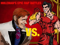 Moleman's Epic Rap Battles #18: Gaston Vs. Hans (Moleman9000) Tags: history collage photoshop frozen video funny hans disney fanart cover parody rap links epic villains gaston rapping battles erb moleman crossover youtube merb fanfiction erboh moleman9000 molemanninethousand