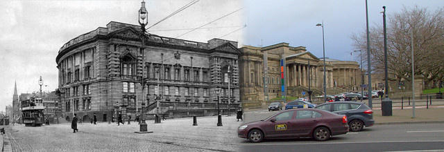 Byrom Street 1900s and 2014 merged