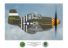 Little Duckfoot (blackheartart) Tags: art airplane aircraft aviation planes caricature mustang warbirds northamerican 357th 364th yoxfordboys