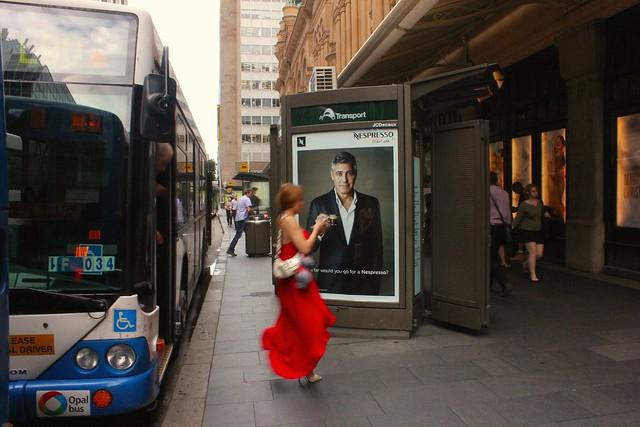 George Clooney George St Sydney Dec 23 2014 Micah Gampel 0497m