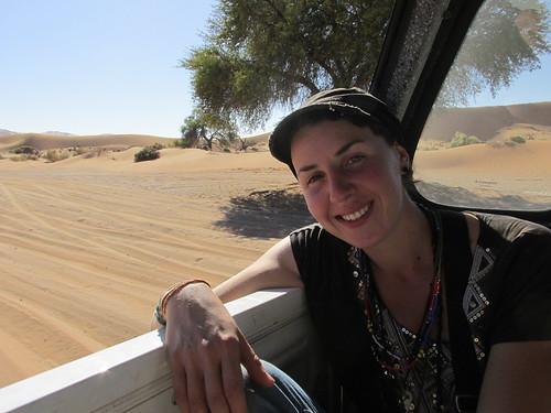 Autostop dans le désert, Namibie