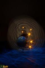 Startrails (ohdrey Pom's) Tags: light lightpainting bulb night globe earth lp startrails lightart sooc longxeposure