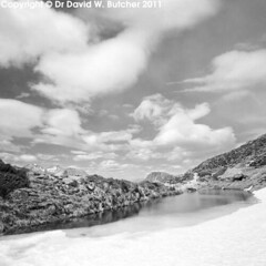 Sealy Tarns clouds, Mount Cook (Dave Butcher Photography) Tags: newzealand blackandwhite lake clouds photograph fineartphotography mountcookvillage davidbutcher davebutcher