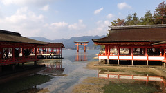 Giant Torii, Itsukushima Shrine, Miyajima (djryan78) Tags: sea reflection giant shrine miyajima inland torii itsukushima seto
