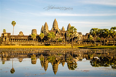 Angkor watSiem reabCambodia (Qicong Lin(Kenta)) Tags: sunset color colour reflection building landscape temple golden nikon asia cambodia afternoon khmer buddhist angkor wat templecity d600 siemreab suryavarmanii cityoftemple thekingdomofcambodia goldenangkor qiconglin