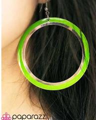 Glimpse of Malibu Green Earrings K1 P5810A-4