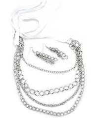 5th Avenue White Necklace P2620A-4