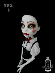 Jillian Kramer (saijanide) Tags: monster dark saw high mod doll artist ooak gothic goth creepy jillian custom commission kramer collaboration repaint reroot saijanide chunk07