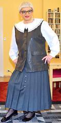 Ingrid022016 (ingrid_bach61) Tags: skirt blouse mature button waistcoat bluse pleated weste faltenrock knopfleiste