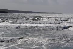 Lahinch (georgewhitehouse) Tags: ireland sea water coast waves surfer surfing lahinch