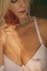 Sara in boudoir (ivan.cortellessa) Tags: red white sexy girl beautiful face hair sara lingerie boudoir rosso intimo labbra beaytu