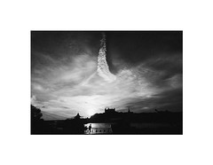 sunset (Marek Pupk) Tags: street sunset blackandwhite bw man castle monochrome silhouette clouds photography town photo europe central documentary slovakia bratislava danube