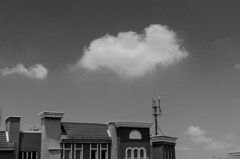 obscured by a cloud (khaled zaza) Tags: blackandwhite cloud afternoon pinkfloyd blackandwhitephotography pixilated