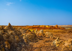 The colorful volcanic landscape of dallol in the danakil depression, Afar region, Dallol, Ethiopia (Eric Lafforgue) Tags: africa travel lake color tourism nature pool beauty horizontal landscape outdoors volcano spring colorful solitude day desert natural earth acid horizon surreal nobody nopeople formation serenity heat minerals environment sulphur isolation geography copyspace geology ethiopia hotspring volcanic saline geothermal interest arid ecosystem hornofafrica afar eastafrica geological abyssinia afarregion dallol danakildepression ethio162017