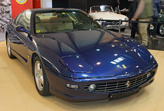 456 GT (The Rubberbandman) Tags: auto show italy classic sports car sport modern vintage germany italian essen fast indoor super ferrari german techno vehicle motor gt supercar fahrzeug 456 sportwagen 456gt classica