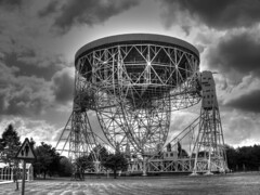 The Lovell Radio Telescope (foggyray90) Tags: monochrome dish outdoor space structure massive astronomy exploration receiver radiotelescope parabolicreflector steelwork sirbernardlovell