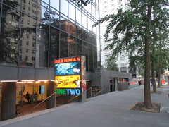Beekman Theater - first time without a construction fence since forever 1472 (Brechtbug) Tags: ocean new york city nyc sea fish streets film water june fence computer movie poster marquee construction theater finding time theatre first disney since line billboard lobby 2nd story pixar animation billboards forever animated aquatic avenue without dory between based marquees the 66th beekman standee 67th 06182016