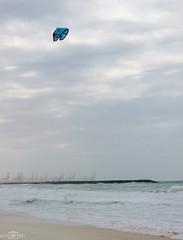 Kite (without) surfing - Dubai Marina Beach, UAE (kadryskory) Tags: city trip travel kite beach water clouds port marina sand dubai uae surfing kitesurfing marinabeach kadryskory
