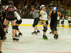 IMG_2767 (clay53012) Tags: womens flat track roller derby wftda derby flat track madison mrd league bout jammer jam team skate hartmeyer ice arena moocon2016