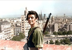 Marina Ginesta, a 17-year-old communist militant, overlooking Barcelona during the Spanish Civil War, 1936 (colorized) [1542 x 1080] #HistoryPorn #history #retro http://ift.tt/1TDIHQR (Histolines) Tags: barcelona history marina 1936 during war x retro communist spanish civil colorized timeline overlooking militant 1080 ginesta 1542 vinatage 17yearold historyporn histolines httpifttt1tdihqr