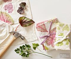 Leaf Prints (Heath & the B.L.T. boys) Tags: pink diy leaf