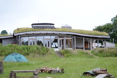 The Lammas Hub building with camping area, including fire circle (Permaculture Association) Tags: wales cymru gathering ecovillage permaculture lammas paramaethu