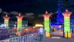 Waratah Totem Gates (Ample Projects) (Japester68) Tags: city light sculpture festival night garden harbor gate harbour outdoor sydney royal vivid australia event projection nsw botanic column aus 1star